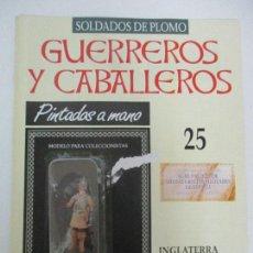 Juguetes Antiguos: SOLDADOS DE PLOMO - GUERREROS Y CABALLEROS - R.B.A. Nº 25 - INGLATERRA - CON FASCÍCULO. Lote 105569271