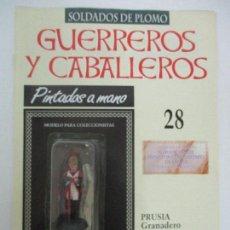 Juguetes Antiguos: SOLDADOS DE PLOMO - GUERREROS Y CABALLEROS - R.B.A. Nº 28 - PRUSIA GRANADERO - CON FASCÍCULO. Lote 105569327