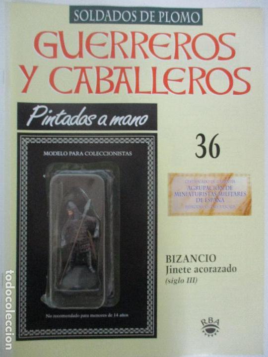 SOLDADOS DE PLOMO - GUERREROS Y CABALLEROS - R.B.A. Nº 36 - BIZANCIO - CON FASCÍCULO (Juguetes - Soldaditos - Soldaditos de plomo)
