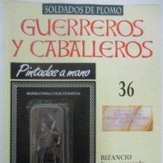 Juguetes Antiguos: SOLDADOS DE PLOMO - GUERREROS Y CABALLEROS - R.B.A. Nº 36 - BIZANCIO - CON FASCÍCULO. Lote 105569639