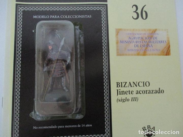 Juguetes Antiguos: Soldados de Plomo - Guerreros y Caballeros - R.B.A. nº 36 - Bizancio - con Fascículo - Foto 5 - 105569639