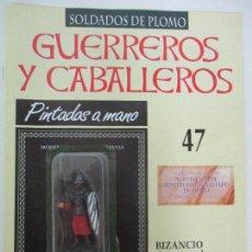 Juguetes Antiguos: SOLDADOS DE PLOMO - GUERREROS Y CABALLEROS - R.B.A. Nº 47 - BIZANCIO - CON FASCÍCULO. Lote 105569671