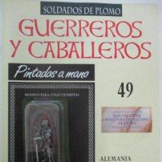 Juguetes Antiguos: SOLDADOS DE PLOMO - GUERREROS Y CABALLEROS - R.B.A. Nº 49 - ALEMANIA - CON FASCÍCULO. Lote 105569731