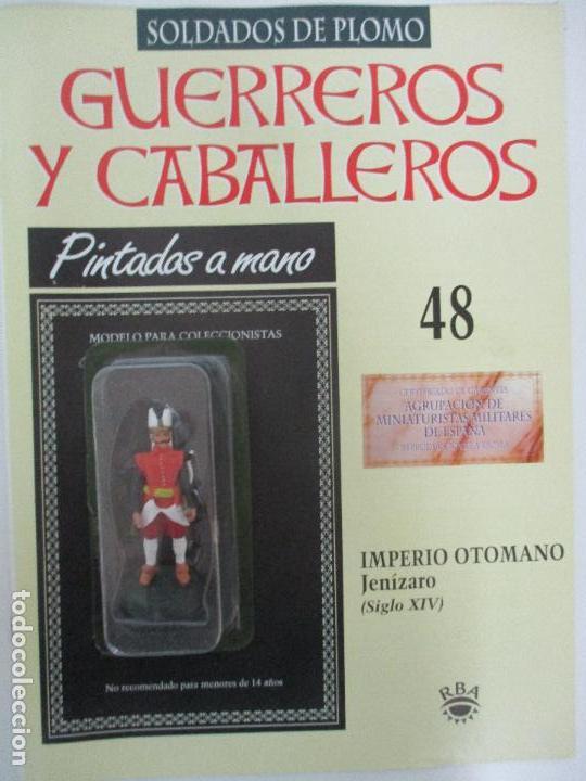 SOLDADOS DE PLOMO - GUERREROS Y CABALLEROS - R.B.A. Nº 48 - IMPERIO OTOMANO - CON FASCÍCULO (Juguetes - Soldaditos - Soldaditos de plomo)
