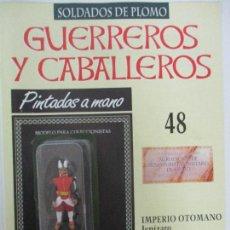 Juguetes Antiguos: SOLDADOS DE PLOMO - GUERREROS Y CABALLEROS - R.B.A. Nº 48 - IMPERIO OTOMANO - CON FASCÍCULO. Lote 105569783