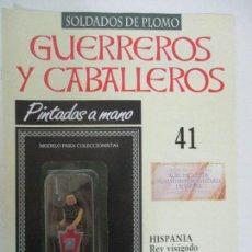 Juguetes Antiguos: SOLDADOS DE PLOMO - GUERREROS Y CABALLEROS - R.B.A. Nº 41 - HISPANIA - CON FASCÍCULO. Lote 105569839
