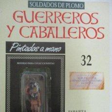Juguetes Antiguos: SOLDADOS DE PLOMO - GUERREROS Y CABALLEROS - R.B.A. Nº 32 - ESPARTA - CON FASCÍCULO. Lote 135403638