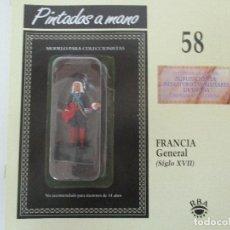 Juguetes Antiguos: SOLDADOS DE PLOMO - GUERREROS Y CABALLEROS - R.B.A. Nº 58 - FRANCIA - CON FASCÍCULO. Lote 105570267
