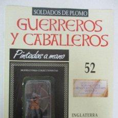 Juguetes Antiguos: SOLDADOS DE PLOMO - GUERREROS Y CABALLEROS - R.B.A. Nº 52 - INGLATERRA - CON FASCÍCULO. Lote 105570707