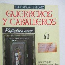 Juguetes Antiguos: SOLDADOS DE PLOMO - GUERREROS Y CABALLEROS - R.B.A. Nº 60 - INGLATERRA - CON FASCÍCULO. Lote 105570723