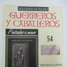 Juguetes Antiguos: SOLDADOS DE PLOMO - GUERREROS Y CABALLEROS - R.B.A. Nº 54 - PROVINCIAS UNIDAS - CON FASCÍCULO. Lote 105570787