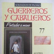 Juguetes Antiguos: SOLDADOS DE PLOMO - GUERREROS Y CABALLEROS - R.B.A. Nº 77 - AUSTRIA - CON FASCÍCULO. Lote 105570987