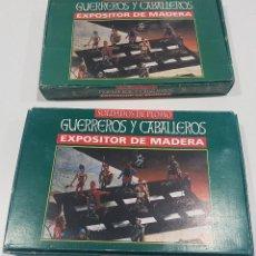 Juguetes Antiguos: LOTE DE 59 FIGURAS DE PLOMO GUERREROS Y CABALLEROS , SOLDADOS. Lote 108323731