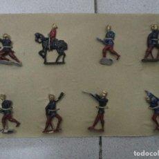 Juguetes Antiguos: COLECCION DE SOLDADITOS DE PLOMO ORIGINALES AÑOS 20 - 30 - 7 SOLDADOS + 1 JINETE SIN JUGAR. Lote 112063659