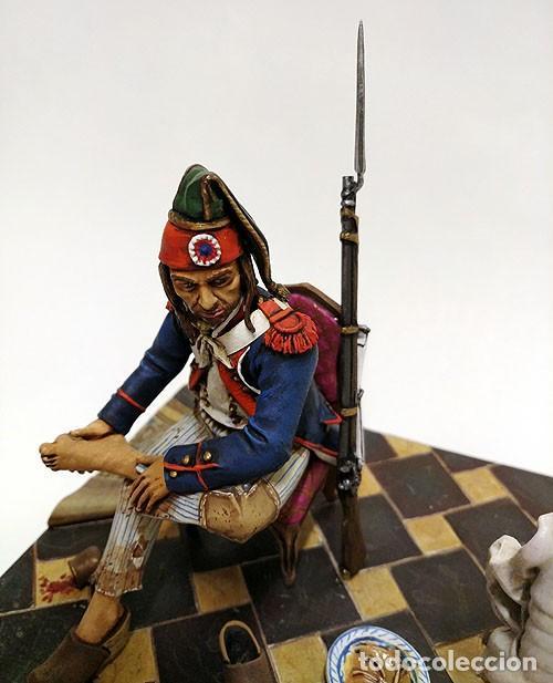 Juguetes Antiguos: SOLDADO DE PLOMO - 90 MM - REVOLUCION FRANCESA 1793 - FIGURA MINIATURA ANDREA METAL 90MM - Foto 2 - 112663439