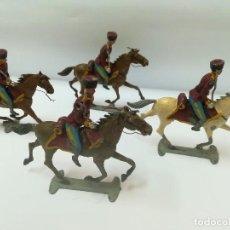Juguetes Antiguos: SOLDADOS DE PLOMO,5 COSACOS CABALLERIA ZAR NICOLAS II,RUSIA,AÑOS 30,EULOGIO,CAPELL,CASANELLAS,TEO. Lote 112706967
