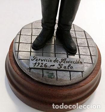 Juguetes Antiguos: SOLDADO DE PLOMO - 120 mm CAPITÁN EJÉRCITO DEL AIRE 1926 FIGURA MINIATURA ESCULTURA MILITAR FERPRAD - Foto 7 - 112883719