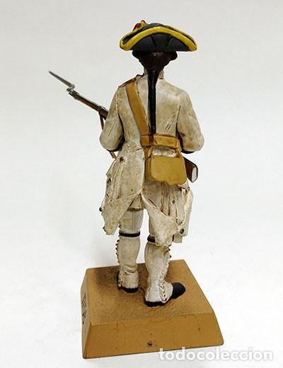 Juguetes Antiguos: SOLDADO DE PLOMO - 90 MM - FUSILERO ESPAÑOL 1758 - FIGURA MINIATURA ESCULTURA MILITAR 90MM - Foto 3 - 112909663