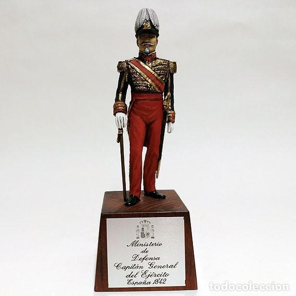 SOLDADO DE PLOMO - 90 MM - CAPITAN GENERAL EJERCITO 1842 - FIGURA MINIATURA ESCULTURA MILITAR 90MM (Juguetes - Soldaditos - Soldaditos de plomo)