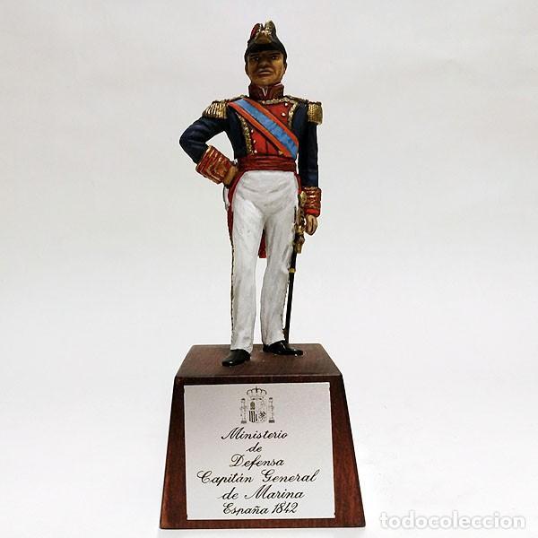 SOLDADO DE PLOMO - 90 MM - CAPITAN GENERAL MARINA 1842 - FIGURA MINIATURA ESCULTURA MILITAR 90MM (Juguetes - Soldaditos - Soldaditos de plomo)