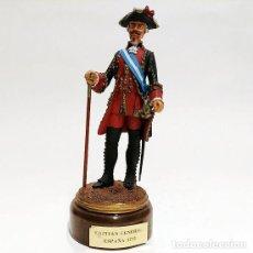 Juguetes Antiguos: SOLDADO DE PLOMO - 90 MM - CAPITAN GENERAL 1775 - FIGURA MINIATURA ESCULTURA MILITAR 90MM. Lote 112983815
