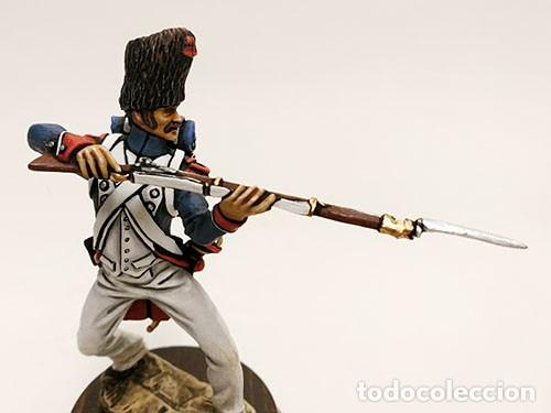 Juguetes Antiguos: SOLDADO DE PLOMO - 90 MM GUARDIA IMPERIAL 1815 - FIGURA MINIATURA METAL 90MM - Foto 2 - 113109271