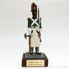 Juguetes Antiguos: SOLDADO DE PLOMO - 90 MM GASTADOR DE INFANTERIA ESPAÑOL 1840 - FIGURA MINIATURA METAL 90MM. Lote 113121115