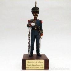 Juguetes Antiguos: SOLDADO DE PLOMO - 90 MM BATALLONES DE MARINA ESPAÑOLA TAMBOR MAYOR 1857 FIGURA MINIATURA MILITAR. Lote 113236971