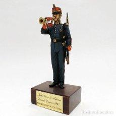 Juguetes Antiguos: SOLDADO DE PLOMO - 90 MM BATALLONES DE MARINA ESPAÑOLA 1861 FIGURA MINIATURA MILITAR 90MM. Lote 113242171