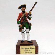 Juguetes Antiguos: SOLDADO DE PLOMO 90 MM - FUSILERO REGIMIENTO HIBERNIA 1727 - FIGURA MINIATURA MILITAR SOLDADITO 90MM. Lote 113519291