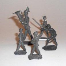 Juguetes Antiguos: LOTE DE 5 SOLDADOS DE PLOMO PRUSIANOS S.XIX SOLDADOS,MUSICO,CAZADOR. Lote 113780179