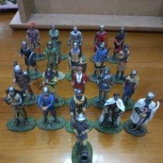 Juguetes Antiguos: SOLDADOS PLOMO MEDIEVALES LOTE DE 21 UNIDADES. Lote 114732434
