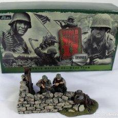 Juguetes Antiguos: WILLIAM BRITAIN GERMAN WAFFEN SS MG42 TEAM ESCALA 1/32 REF. 17147 DE LA SERIE WORLD WAR II SQUADS 1. Lote 114969295
