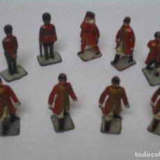 Juguetes Antiguos: CONJUNTO DE 9 SOLDADITOS DE PLOMO MUY ANTIGUOS. --- 1-1. Lote 115554143