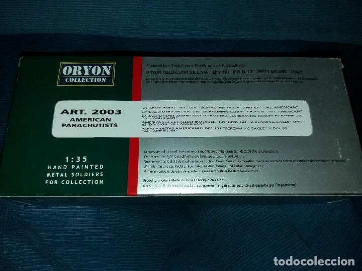 Juguetes Antiguos: ORYON COLLECTION BLISTER SOLDADOS PLOMO II GUERRA MUNDIAL 1:35 REF:2003 PARACAIDISTAS AMERICANOS 101 - Foto 4 - 116284647