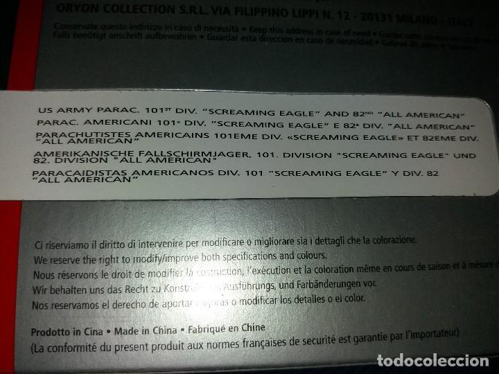 Juguetes Antiguos: ORYON COLLECTION BLISTER SOLDADOS PLOMO II GUERRA MUNDIAL 1:35 REF:2003 PARACAIDISTAS AMERICANOS 101 - Foto 5 - 116284647