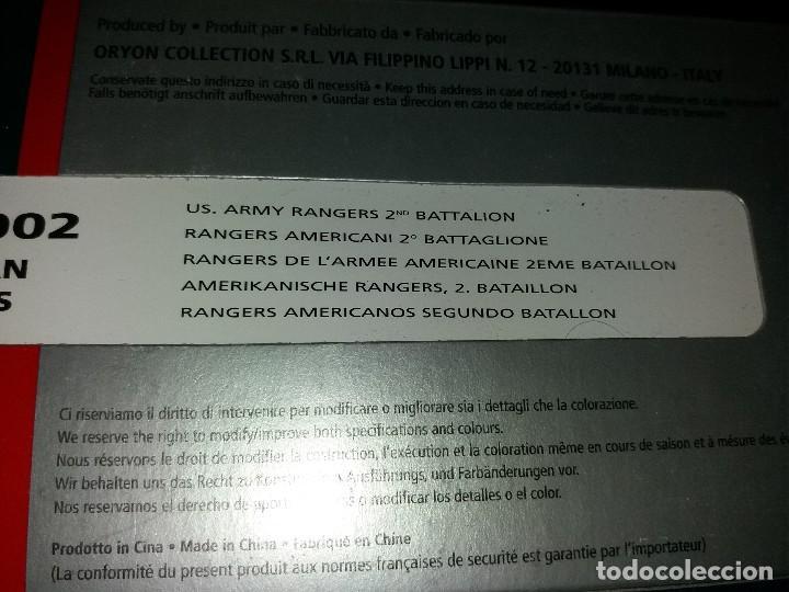 Juguetes Antiguos: ORYON COLLECTION BLISTER SOLDADOS PLOMO II GUERRA MUNDIAL 1:35 REF:2002 RANGERS AMERICANOS - Foto 2 - 116284867