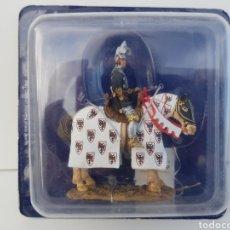 Caballero medieval a caballo Bertrand du Guesclin 1370 soldado de plomo del Prado SME023
