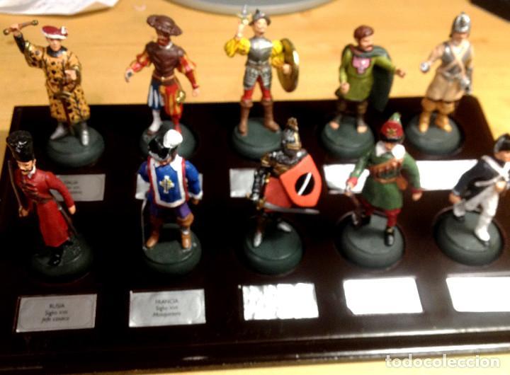 Juguetes Antiguos: SOLDADOS DE COLECCIÓN ALMIRAL PALAU:- 10 con peana y etiquetas - Foto 2 - 117105067