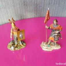 Juguetes Antiguos: FIGURAS DE PLOMO GUERREROS. Lote 119073623