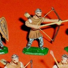 Juguetes Antiguos: *ALMOGÁVARES* S. XI REF. 038, PLOMO ESC. H0 1/86, ALYMER MINIPLOMS, MADE IN SPAIN, AÑOS 60.. Lote 119325271
