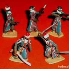 Juguetes Antiguos: *GUERREROS ÁRABES* PLOMO ESC. H0 1/86, ALYMER MINIPLOMS, MADE IN SPAIN, AÑOS 60.. Lote 120147147