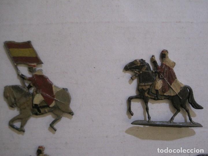 Juguetes Antiguos: GUARDIA MORA FRANCO CON COCHE - SOLDADOS PLOMO PLANOS -VER FOTOS-(V-14.435) - Foto 4 - 120536867