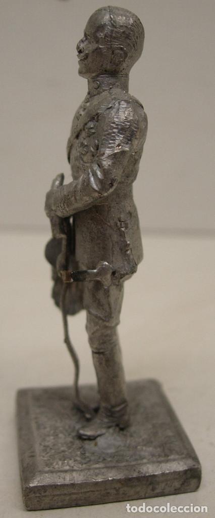 Juguetes Antiguos: Figura, soldado de plomo ALYMER, REY ALFONSO XIII - Foto 2 - 121928003