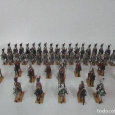 Juguetes Antiguos: 49 SOLDADOS DE PLOMO - CABALLERÍA EJERCITO FRANCÉS - ÉPOCA NAPOLEÓNICA - NAPOLEÓN - 10 CM ALTURA. Lote 122339643