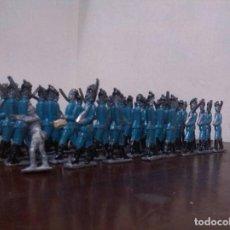 Juguetes Antiguos: ANTIGUOS SOLDADITS DE PLOMOS INGLESES LOTE DE 40 PIIEZAS. Lote 122834099