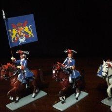 Juguetes Antiguos: LOTE FIGURAS PLOMO SANQUEZ GUARDIA DE CORPS FERNANDO VI. Lote 123553727