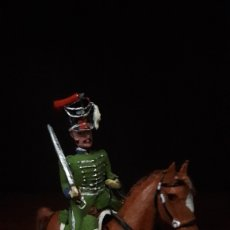 Juguetes Antiguos: FIGURA SOLDADO PLOMO SANQUEZ CAZADOR CABALLERIA OFICIAL CARLOS IV. Lote 123554455