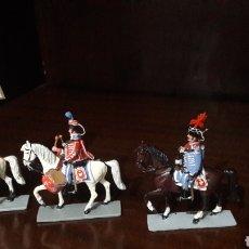 Juguetes Antiguos: LOTE FIGURAS PLOMO SANQUEZ HUSAR DE MARÍA LUISA CARLOS IV. Lote 123983792