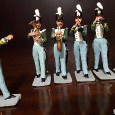 Juguetes Antiguos: LOTE FIGURAS PLOMO SANQUEZ BANDA DE MÚSICA ISABEL II. Lote 124470236